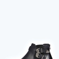 Sadie Buckle Strap Ankle Boot