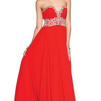 Long Strapless Sweetheart Formal Gown by Shail K