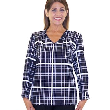 Adaptive Blouses for Women - Fashion Open Back Blouse (sizes: Medium and XLarge)