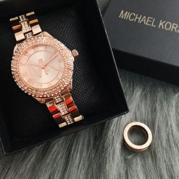 Fashion Bling Crystal Michael Kors Quartz Watch