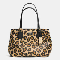 KITT CARRYALL IN OCELOT PRINT CROSSGRAIN LEATHER