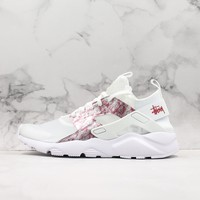 Nike Air Huarache Ultra 4 Transparent White/ Pink Running Shoes - Best Online Sale