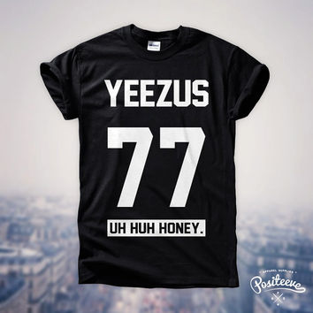 YEEZUS 77 Kanye West Tour Concert  Rihanna Jay-Z Hip-Hop Fan Festival Top T Shirt (white design) Unisex