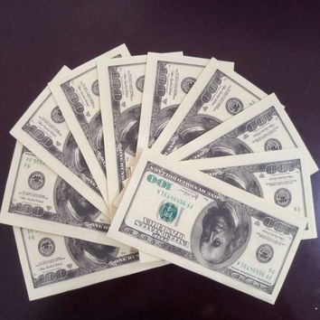 Money Banknote $100 Bill Dollars Paper Towels 3 pack napkins fake banknotes trump gift birthday present dollar Make a fortune