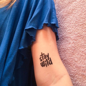 2 Stay Wild Temporary Tattoos - SmashTat