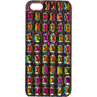 River Island Womens Pink jewelled iPhone 5 case