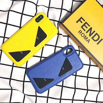 Fendi Fashion New Eye Women Men Personality Solid Color Phone Case Protective Case
