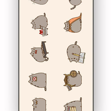 Pusheen The Cat Emoticon for iPhone 4/4S Case **