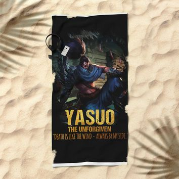 League of Legends YASUO - The Unforgiven - video games champion Beach Towel by naumovski