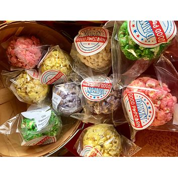 12 Fruit Flavored Colored Popcorn Balls Pick Your Flavor/Color