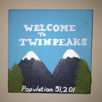 Welcome to Twin Peaks Mini Painting