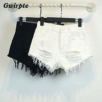 Gwirpte sexy female newborn summer short feminino restore ancient ways of tall waist jean shorts loose cultivate one's morality