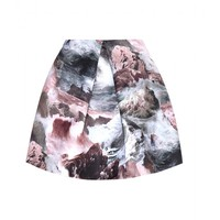 carven - printed satin skirt