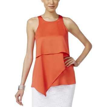 Alfani Womens Textured Sleeveless Blouse