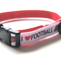 Football Dog Collar Adjustable Sizes (XS, S, M)