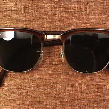 80's Vintage B&L Ray Bans W0366 Clubmaster Sunglasses