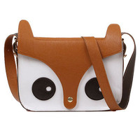 Fashion Pu Leather Owl Bag Fox Schoolbag Backpack Shoulder Messenger Handbag