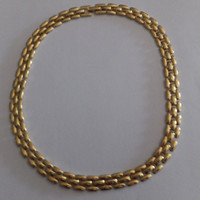 Vintage Napier Gold Necklace Choker Costume Jewelry