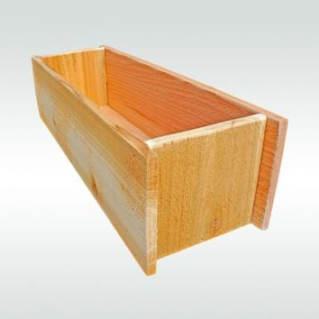 Herb Garden Cedar Wooden Window Planter Flower Box Gift for Gardener Gift