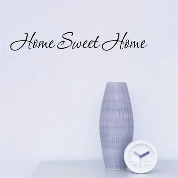 home sweet home Decoration Creative Wall Decals Decorative Vinyl Wall Stickers DIY poster vinilos paredes