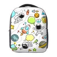 Cartoon Space Kids School Bag