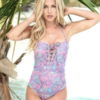 Paisley Mermaid Monokini