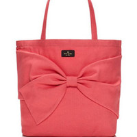 Kate Spade New York On Purpose Bow Front Flamingo Pink Shoulder Tote