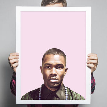 Frank Ocean Poster • Hiphop Poster Frank Ocean Blonde Print Hip Hop Decor Hip Hop Music Wall Art Music Decorations Rap Wall Art Poster
