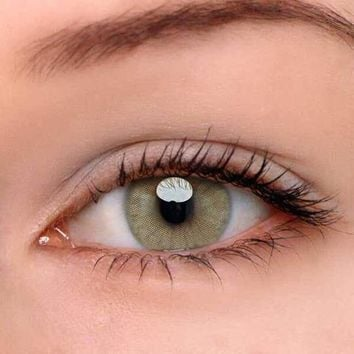 EyeDream® Eye Circle Lens Polar Lights Brown Colored Contact Lenses