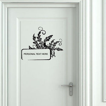 Wall Mural Vinyl Decal Sticker Sign Door Frame Personalized Text Name AL299