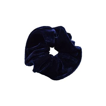 Velvet Goldmine Scrunchie - Navy