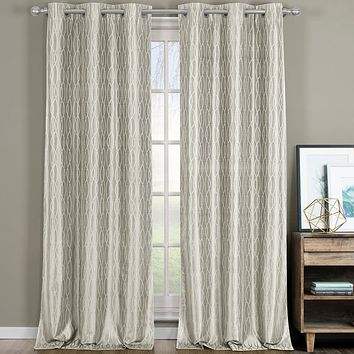 Beige 76x63 Voyage Thermal Blackout Grommet Curtain Panels (Set of 2)
