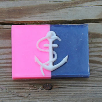 nautical birthday, nautical party favors, nautical decor, anchor birthday, anchor decor, anchor favors, pink nautical, nautical soap, navy