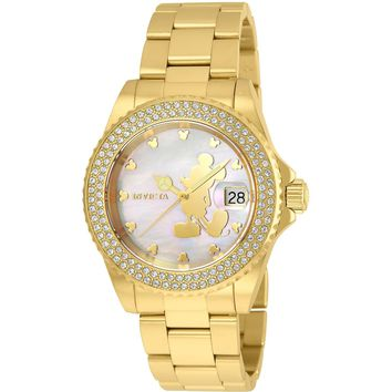 Invicta Women's 22728 Disney Quartz 3 Hand White Dial Watch