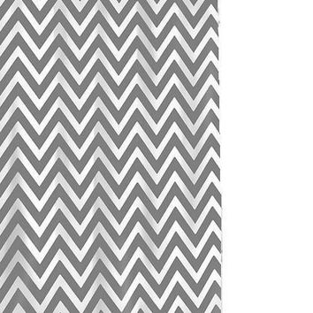 Chevron Shower Curtain White/Grey