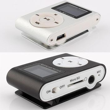 1pcs Mp3 Player LCD Screen Display mini MP3 Support 2/4/8/16/32GB Micro TF Card Slot with Button MP3 Music Player