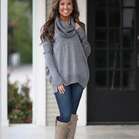 Over the Moon Sweater - Grey