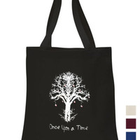 Once upon a time Cotton Tote ECO canvas school/ picnic/ book gift Bag | eBay
