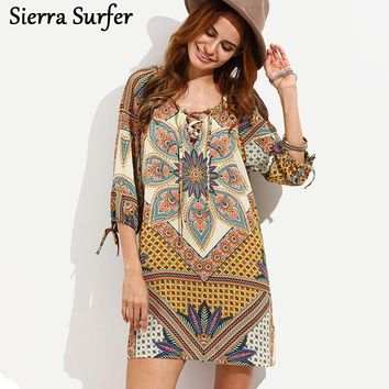 Pareo Beach Wear Summer Dress Towel Swim Suit Cover Up 2018 Kaftan Ups Skirt Fall New Retro Stamp Size Loose Long Sleeve Saida