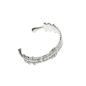 Be The Change You Wish to See Sterling Silver Cuff