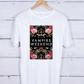 Vampire weekend floral Tshirt T-shirt Tees Tee Men Women Unisex Adults