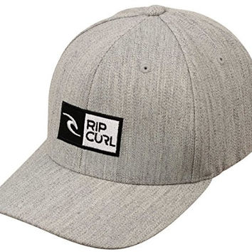 Rip Curl Men's Ripawatu Flexfit Hat, Grey Heather, One Size