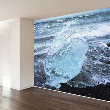 Paul Moore's Icelandic Beach Mural wall decal