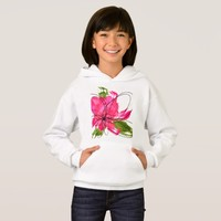 Blush Pink Olive Painted Daisy Hoodie