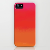 red orange color field iPhone & iPod Case by alsoCAN