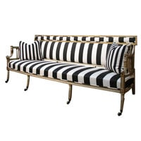 1STDIBS.COM - Lotus Gallery - A George III Black and White Upholstered Canape Sofa