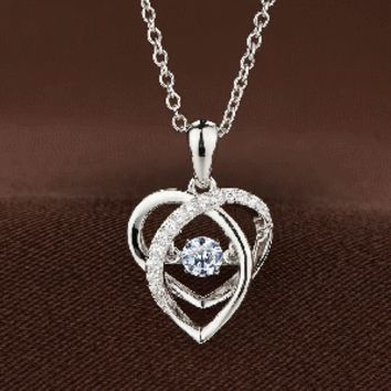 Oval Heart Swaorvski Crystal Necklace