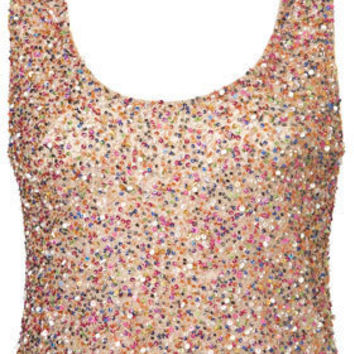Multi Sequin Vest - Tops - Apparel - Topshop USA