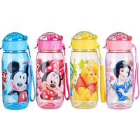Momy and Angel 400ml Disne Minnie Mickey Mouse Kid Drinking Bottle Feeding Straw Children Cup Feeding Baby Bottles Water Bottle