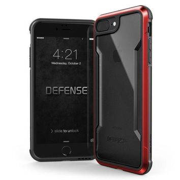 Iphone 8 Plus & Iphone 7 Plus Case X Doria Defense Shield Series   Military Grade Drop Tested Anodized Aluminum Tpu And Polycarbonate Protective Case For Apple Iphone 8 Plus & 7 Plus (red)